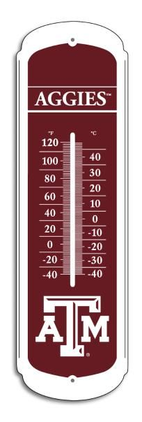 Texas A. And M Aggies NCAA 12-inch Outdoor Thermometer NEW FREE SHIPPING