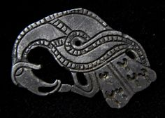 Viking Silver Raven Figural Mount 900-1100 AD