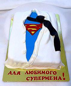 """Торт """"Рубашка для супермена"""""""