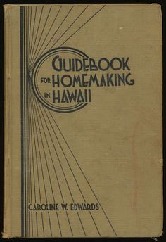 http://alphabettenthletter.blogspot.com/2013/02/creator-irv-watanabe.html Catalog of Copyright Entries, Part 1, Books, Group 1, 1938 New Series, Volume 35, Number 11 Edwards, Caroline Wortmann. Guidebook for homemaking in Hawaii, by C. W. Edwards. Edited by M. J. Fortie. Drawings by Hitoshi Irving Watanabe. © Feb. 28, 1938; 2 c. Aug. 22: aft. Oct. 24; A 122301; New freedom press, Honolulu, Hawaii. 14348
