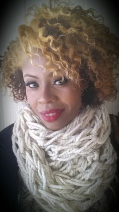 Cream Multicolor Arm Knit Chunky Infinity by AmberGlamourLand, $20.00