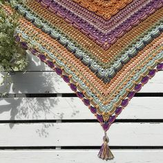 lost in time crochet triangle shawl scarf free pattern on ravelry. Crochet Shawls And Wraps, Crochet Scarves, Crochet Clothes, Shawl Patterns, Crochet Blanket Patterns, Knitting Patterns, Crochet Gifts, Free Crochet, Knit Crochet