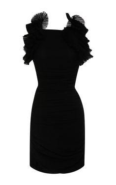 Cotton Gauze Geeny Dress In Black by Isabel Marant for Preorder on Moda Operandi