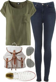 Tumblr Outfits with Converse | ... 21 Converse polyvore j.crew TopShop H&M FirstDayLook Autumn Outfits