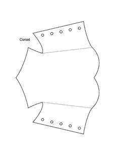 Corset - - Template for Corset card - Shared by ATC_World member Valerie of -- Please use if you'd like :). Doll Clothes Patterns, Doll Patterns, Clothing Patterns, Dress Patterns, Sewing Patterns, Clothing Templates, Barbie Und Ken, Barbie Dolls, Barbie Clothes