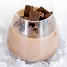Chocolate ice cubes