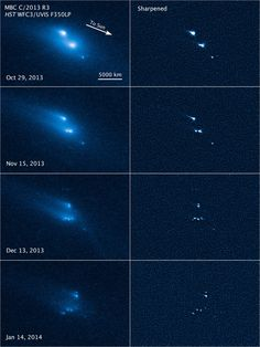 Hubble Space Telescope captures shattering asteroid, at least 10 pieces seen in photos Hubble Space Telescope, Space And Astronomy, Telescope Images, Cosmos, Asteroid Belt, Our Solar System, To Infinity And Beyond, Deep Space, Space Exploration