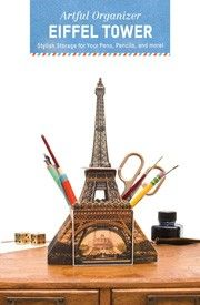 Décor meets function with this charming organizer, sure to brighten up any space. The durable pieces punch out and assemble in mere minutes—no glue or scissors required! Francophiles can bring a taste of Paris to any space with this delightful desk décor adorned with a classic image of the Eiffel Tower. Très chic!