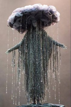 "Goddess of Depression Victot Nazarenko described as ""rain sculpture"" X"