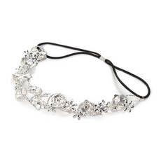 Silver Flower Garland Headwrap