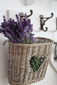 Heart Basket with Lavender