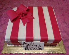 Stripped cake birthday cake girly cake pink