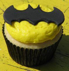 Batman theme vanilla buttercream cupcake