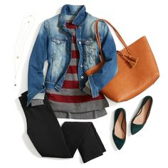 Rock your Emer pants on the weekend by pairing them with a striped sweater, denim jacket and your go-to tote.