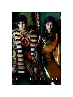 Etro Fall 2011 Campaign | Stella Tennant & Aymeline Valade by Mario Testino