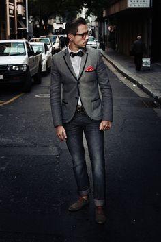 details // #style #jacket #bowtie