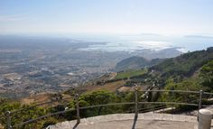 Erici, with a view on Trapani. Over there one can have the most delightful granitos, small cakes and marzipan.