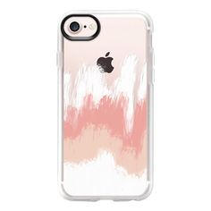 Pale in Pink - iPhone 7 Case And Cover (49 AUD) ❤ liked on Polyvore featuring accessories, tech accessories, iphone case, apple iphone case, iphone cases, pink iphone case, iphone cover case and clear iphone case