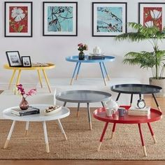 Shop for Marcella Paint-dipped Round Spindle Tray Top Coffee Table by MID-CENTURY LIVING. Get free shipping at Overstock.com - Your Online Furniture Outlet Store! Get 5% in rewards with Club O! - 18534722