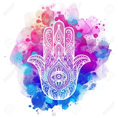 Illustration of Ornate hand drawn hamsa. Popular Arabic and Jewish amulet vector art, clipart and stock vectors. Mandala Art, Cute Wallpapers, Wallpaper Backgrounds, Iphone Wallpaper, Foto Transfer, Hand Of Fatima, Yoga Art, Hamsa Hand, How To Draw Hands