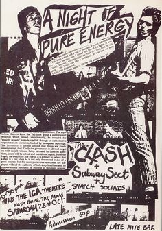 The Clash flyer #Punk