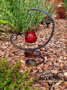 Hand Forged Candle Holder by Iron Mtn. Blacksmithing