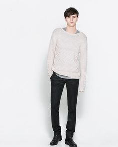 Image 1 of STRUCTURED SHINY JUMPER from Zara