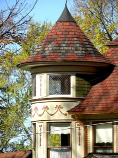 Victorian turret on home in Chelsea, Michigan, photo by Bsleep