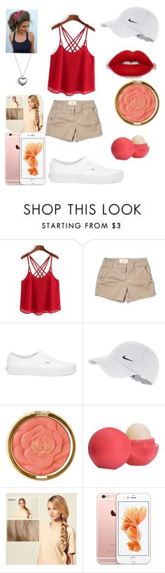 """Winnie the pooh outfit"" by eldamendoza ❤ liked on Polyvore featuring J.Crew, Vans, NIKE, Milani, Eos, Hershesons and Pandora"