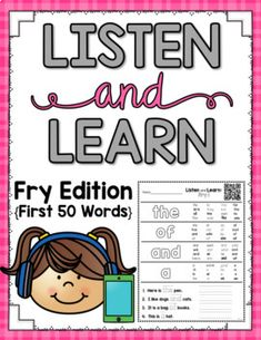 These Listen and Learn Activities are 14-16 minutes each of GUIDED INSTRUCTION by ME! :) This particular pack has 13 pages for a total of 52 sight words (the last page includes 2 review words). Students listen, color, and write based on skills that I teach! Simply copy the printable you want yo...