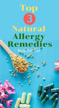 Top 3 Easy Natural Allergy Remedies that Work! Top 3 Easy Natural Allergy Remedies that Work!-- Which natural allergy remedies are best? These top three picks are backed by research to help keep those annoying seasonal allergies at bay. Natural Allergy Relief, Natural Remedies For Allergies, Cold Home Remedies, Natural Health Remedies, Natural Cures, Herbal Remedies, Sleep Remedies, Diabetes, Seasonal Allergies