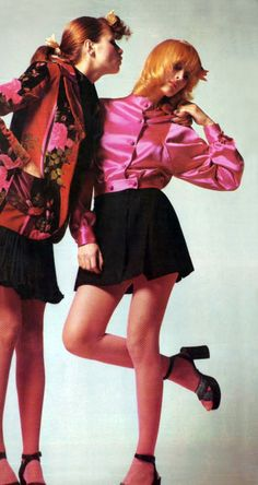 Apollonia and Shirley Ann Hayes by Bugat Vogue Italia 1972
