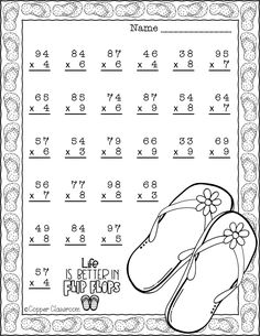 education system: 10 pages of 2 digit by 1 digit multiplication with. 4th Grade Multiplication Worksheets, Math Practice Worksheets, Math Resources, Math Activities, Math Charts, Math Groups, Third Grade Math, Math Numbers, Math For Kids