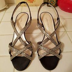 "Caparros Esther Black Satin 8m Dressy Rhinestone 3"" Heels NIB Never Worn #heels (ebay link) Flats, Sandals, Black Satin, Lace Up, Heels, Link, Ebay, Fashion, Loafers & Slip Ons"
