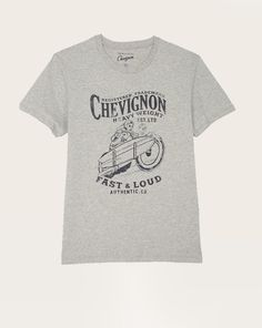 T-shirt homme straight Chevignon col rond gris chiné clair Eté 2015