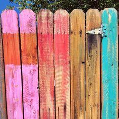 #rainbow #gate #painted photo by happymundane on Instagram