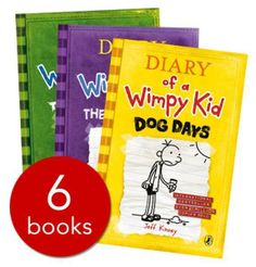 Diary of a Wimpy Kid Collection - 6 books - Paperback - 9780141345734 - Jeff Kinney £7.99