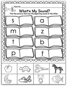 Back to School Freebie! Beginning Of Kindergarten, Kindergarten Reading, Beginning Of School, Preschool Learning, Learning Activities, Preschool Activities, Teaching Reading, Back To School, Beginning Sounds