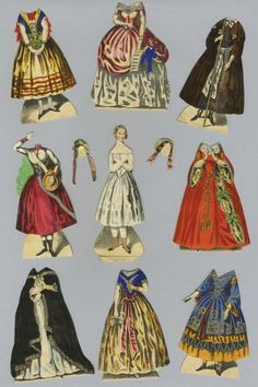Jenny Lind Paper Doll : Lot 611 Vintage Paper Dolls, Antique Dolls, Cool Paper Crafts, Diy Crafts, Toy Theatre, Paper People, Journal Themes, Doll Quilt, Basteln