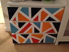 Ikea hack, painted malm chest of drawers.
