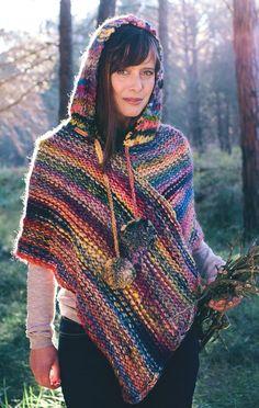 506 Besten Ponchos Bilder Auf Pinterest Knitted Poncho Ponchos
