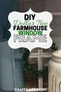 Dollar Tree DIY Farmhouse Window Frame Decor Create this Dollar Tree DIY Farmhouse Window Frame with items from the Dollar Tree to add rustic farmhouse style to your home. Rustic Window Frame, Window Pane Decor, Rustic Frames, Window Frames, Dollar Tree Decor, Dollar Tree Crafts, Jingle Bell, Farmhouse Windows, Farmhouse Decor