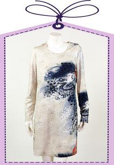 Puro nightdress beige blue online available at www.pyjama-und-co.com