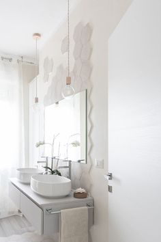 Here you can find the project of an original bathroom I realized for a young couple: balance, aesthetics, design and functionality. Laundry Room Bathroom, Bathroom Goals, Italian Bathroom, Modern Bathroom, Bathrooms Decor, Bad Inspiration, Bathroom Inspiration, Bathroom Interior Design, Interior Decorating
