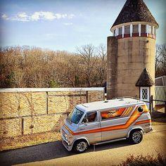 A killer custom Dodge 70's van
