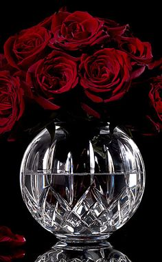 Waterford Lismore Rose Bowl - Absolutely Gorgeous!! I have a bowl like this I may make my own flower decor with it!!