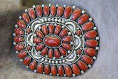Vintage Alice Quam Zuni Coral and Sterling by MillersIndianVillage, $1875.00