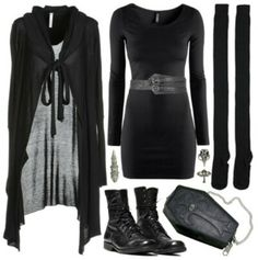 I'm making this outfit happen. Witch Fashion, Dark Fashion, Gothic Fashion, Goth Look, Lolita, Gothic Outfits, Look Cool, Alternative Fashion, Lingerie