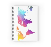 'Colorful World Map Design' Spiral Notebook by sagetypo World Map Design, Spiral, Notebook, Colorful, Paper, The Notebook, Exercise Book, Scrapbooking