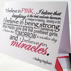 Inspirational Card  Believe Pink Note  Hope Holiday by StarsCards, $5.98
